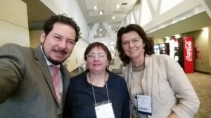 From left to right: Jose V. Torres (IWTLE), Valentina Holubeva (English Speaking Club), and Alla Schlate (Sacred HEart University)